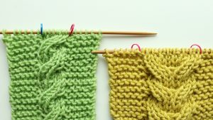 2-sided knitted cables tutorial