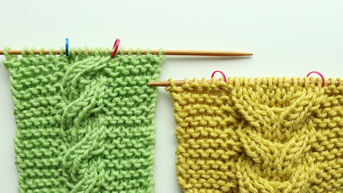 How to knit double-sided cables