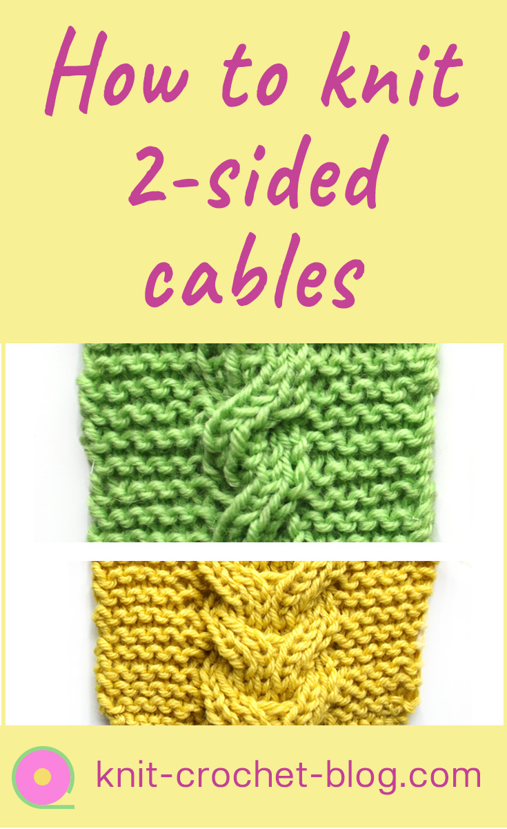 Tutorial for reversible cables. 2-sided cables