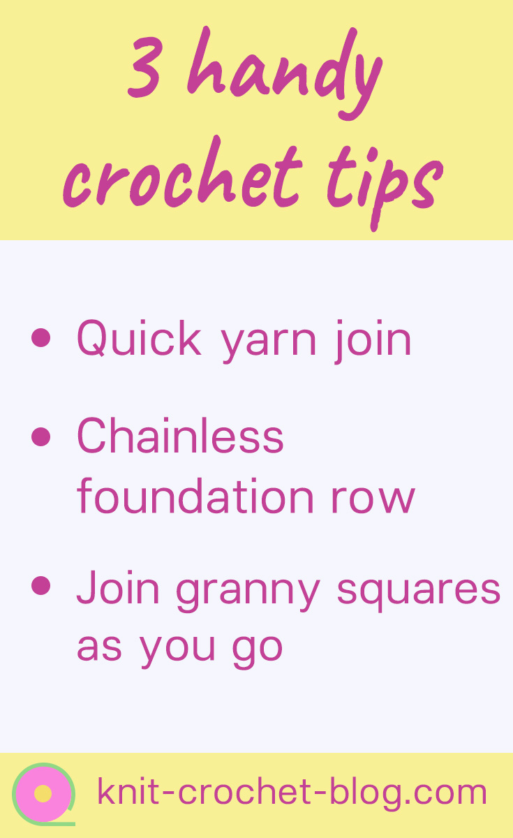 3 crochet tips with videos