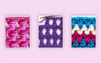 3 great crochet stitches