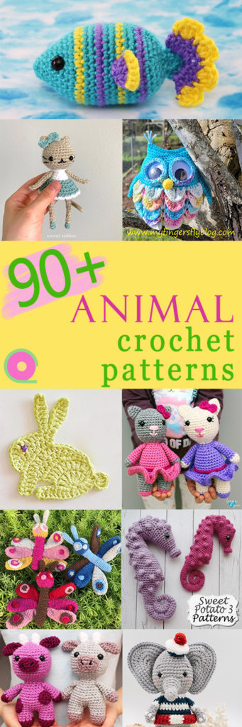 90 animal crochet patterns
