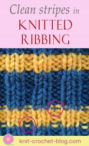How to have straight stripes in knitted ribbing