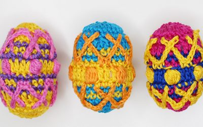 Colorful crochet Easter eggs