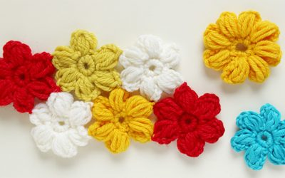 How to crochet an easy puff flower