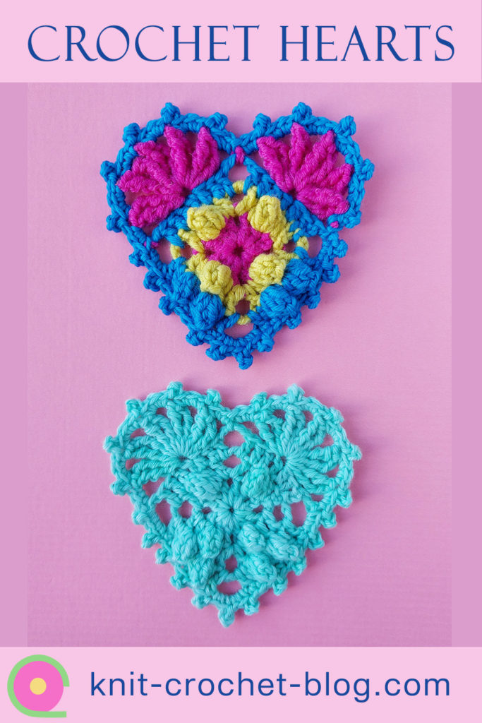 tutorial and chart for crochet hearts