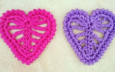 Small crochet heart tutorial and chart