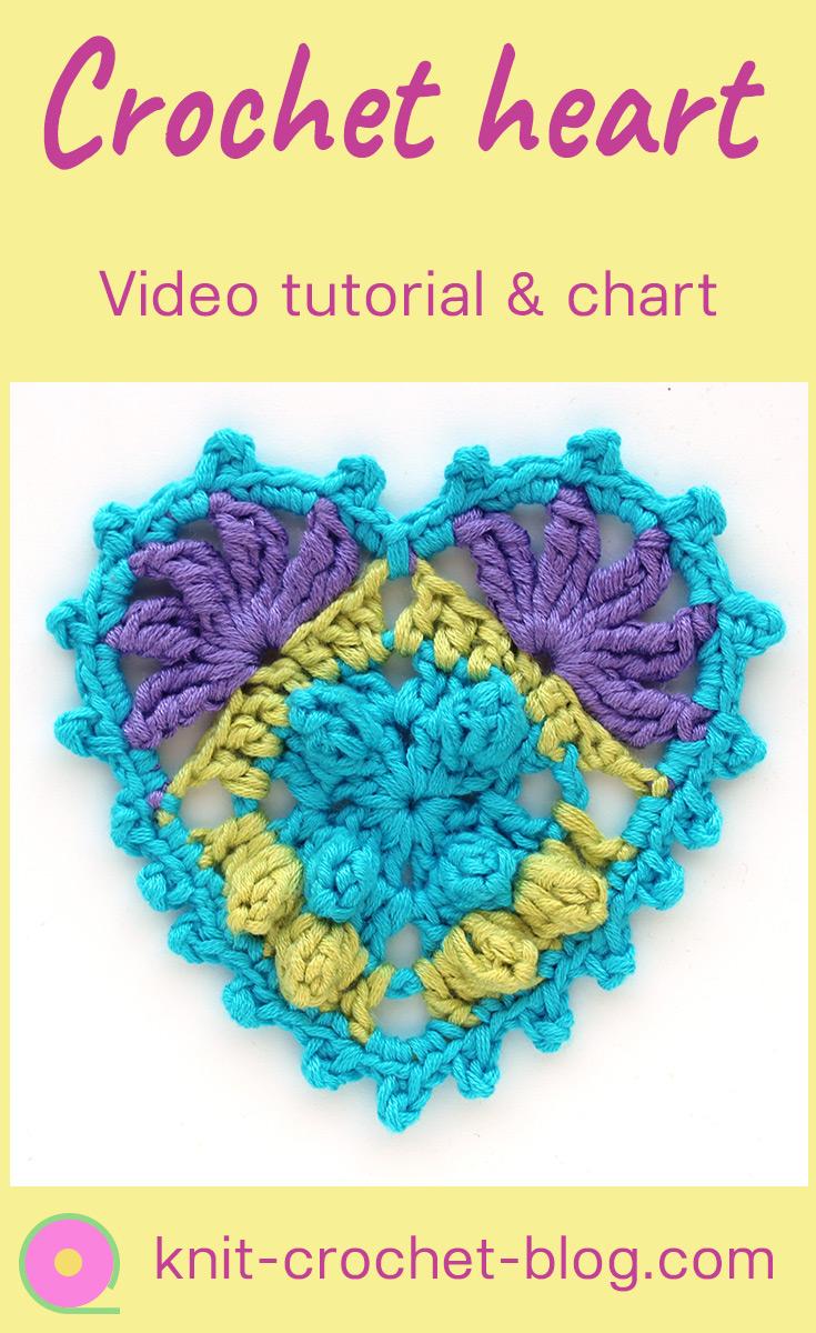 Crochet heart tutorial and chart