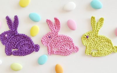 Crochet bunny rabbit applique motifs