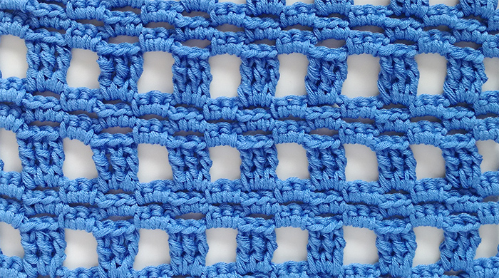 Easy block lace crochet stitch pattern
