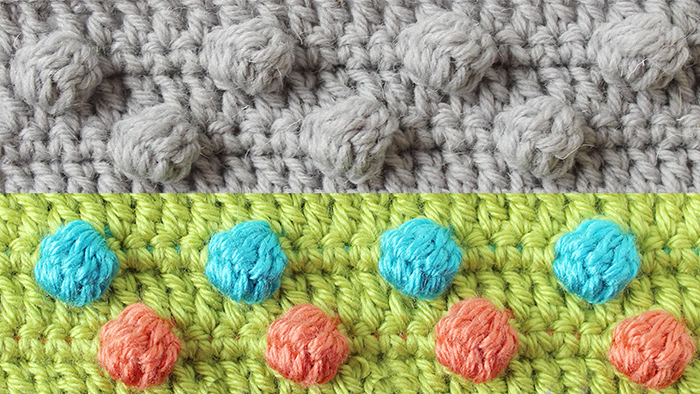 Crochet the bobble stitch