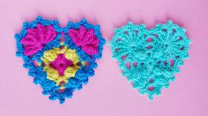 2 hearts for crochet tutorial