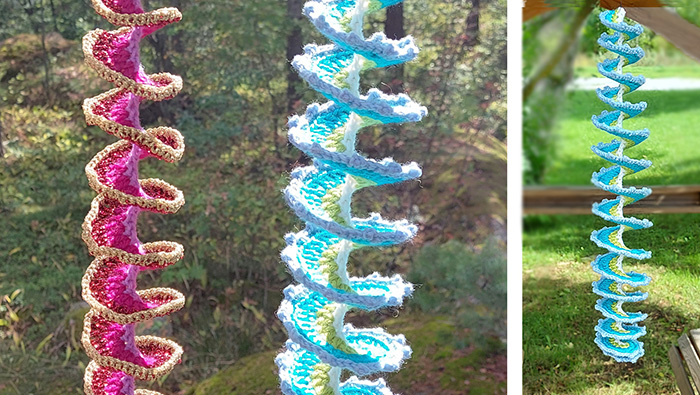 How to crochet a wind spinner