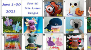 part of the 80 animal crochet patterns in blog hop
