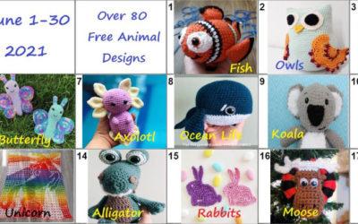 Zoo animals crochet pattern blog hop 2021