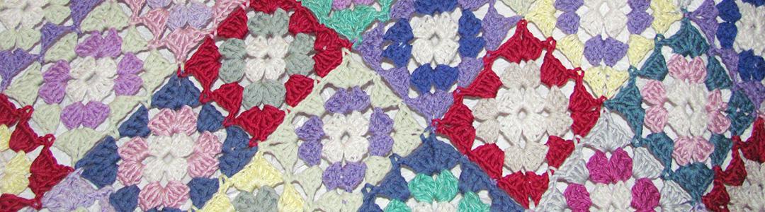 Granny square bedspread