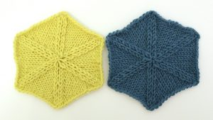 Knitted hexagon tutorial