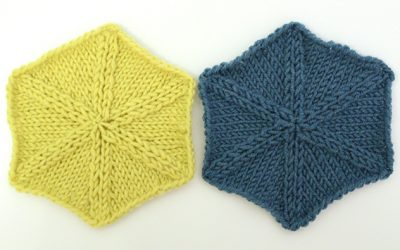 Knitting hexagons