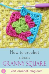 Instructions to crocheting a basic granny square