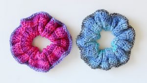 How to crochet scrunchie hair band