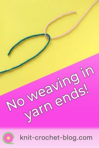 pin joining yarns in crochet and knitting