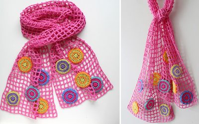 Joyful circles scarf pattern