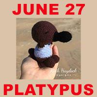 Platypus toy crochet pattern