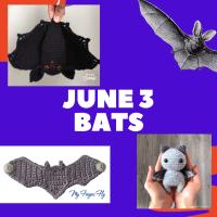 Bats crochet pattern links