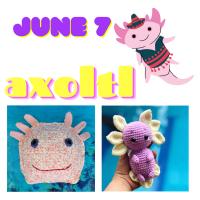 Axolotl crochet pattern links