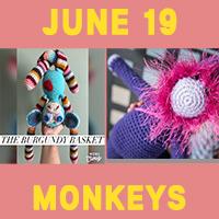 Monkey toy crochet patterns