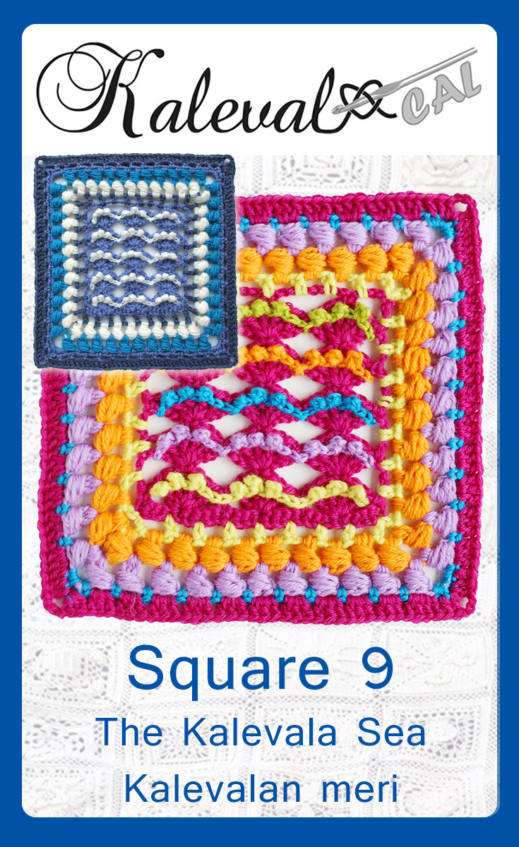 Kalevala CAL crochet-along square 9 Kalevala Sea pattern