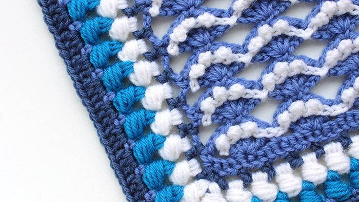Kalevala sea crochet square pattern