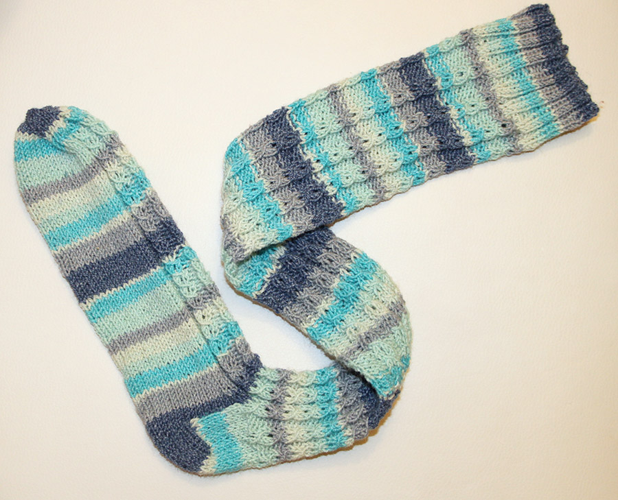 Knitted Mock Cable Socks In Cotton Stretch Yarn Knit Crochet Blog