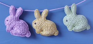 Crochet bunny rabbit baby mobile instructions