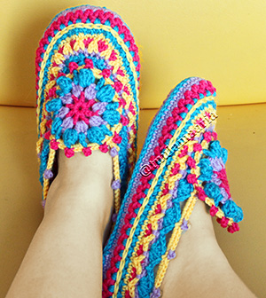 colorful slippers pattern
