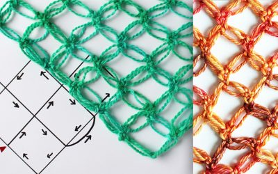 How to crochet Solomon's knot – triangle or straight edge