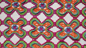 pattern for colorful summer jewels shawl